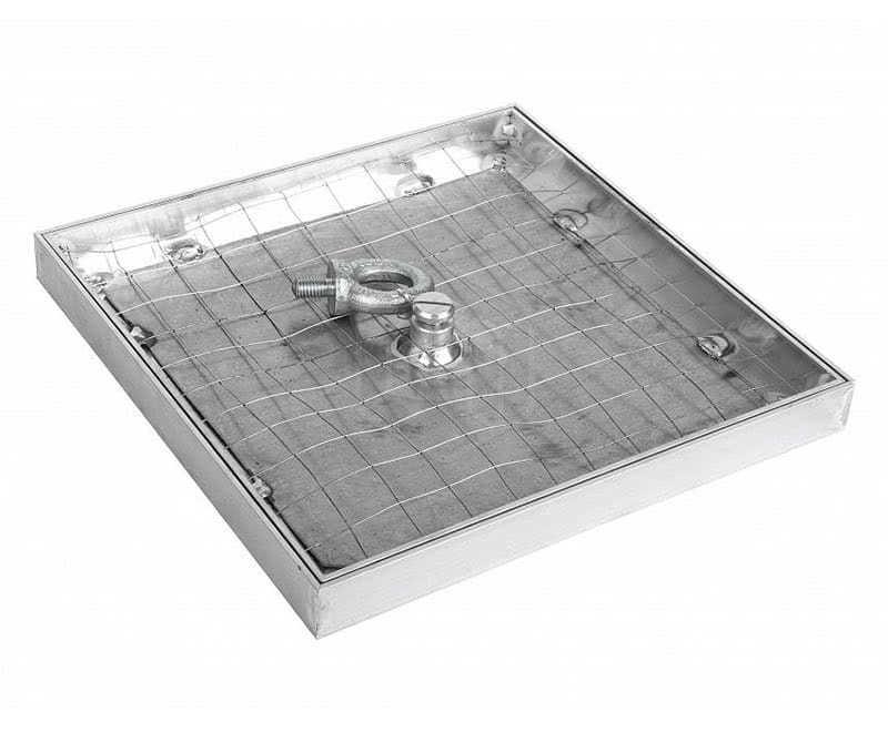 Алюминевый люк для ванной 400 600