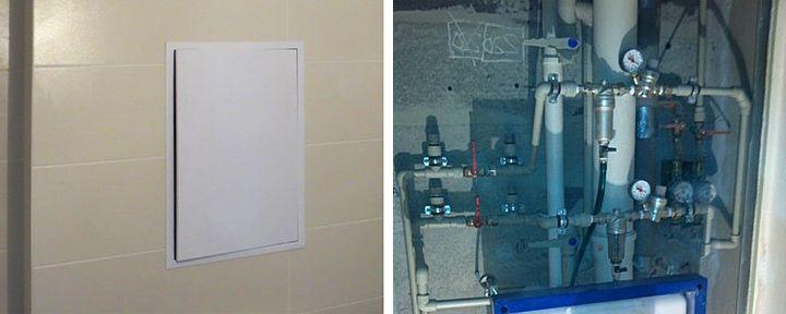Калькулятор сантехнических люков с выдвижной дверцей под плитку
